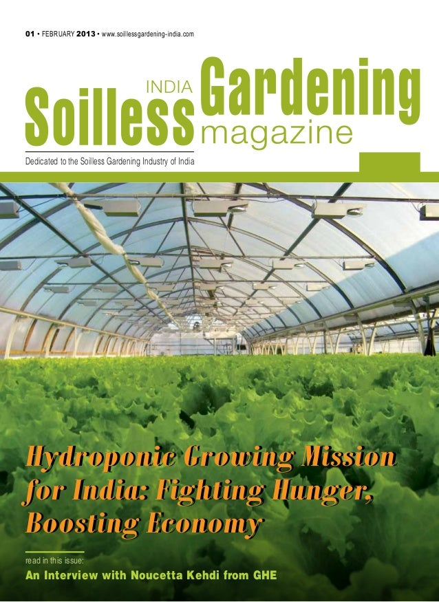 Soil less gardening for Soil less farming