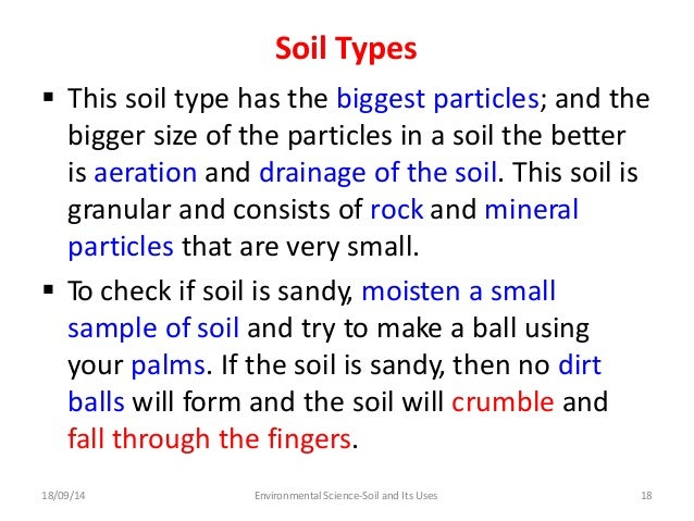 Soil and its uses group 5 for Types of soil and their uses