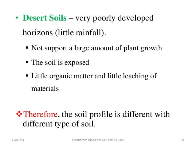 Soil and its uses group 5 for Soil and its types