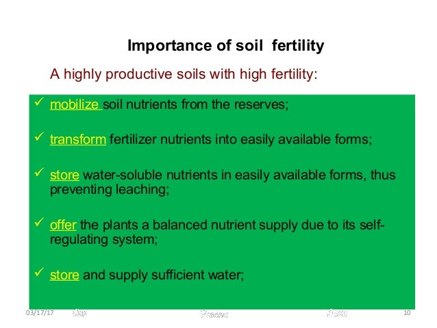 Soil and productivity for Importance of soil minerals