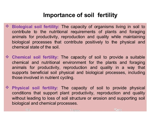 the importance of soil quality While all of these nutrients are important from a soil fertility standpoint, p and n are of greatest importance in terms of environmental impact  quality of soil.