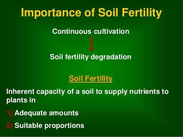 Soil and soil nutrient management in ofc production for Importance of soil minerals