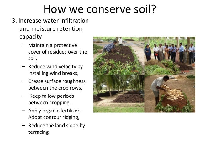 Soil and water conservation for dry zone of sri lanka for Land and soil resources definition