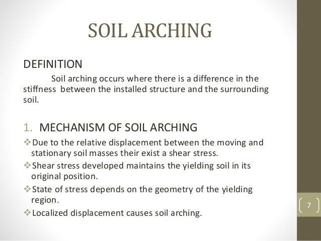 Soil arching in granular soil for Soil explanation