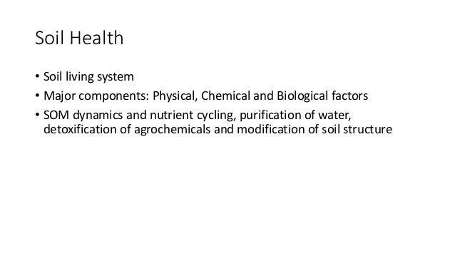 Soil biodiversity for Soil health institute