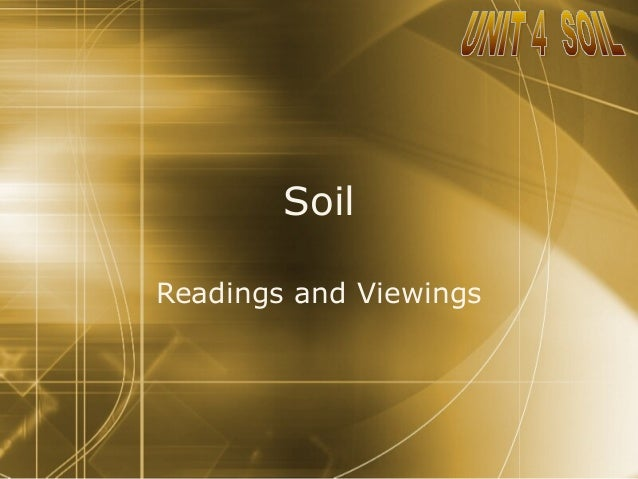 SoilReadings and Viewings