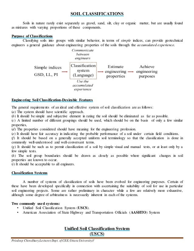 Geotechnical Engineering Soil Classification