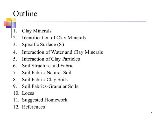 Soil clay minerals for What are soil minerals