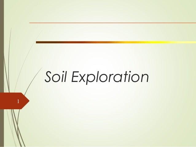 Soil for Soil exploration