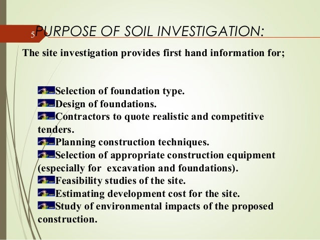 Soil for Soil investigation report