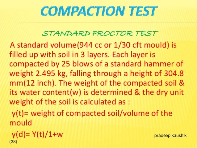 Soil compaction group 4 for Soil unit weight