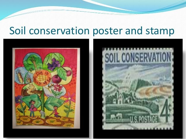 Soil conservation poster and stamp
