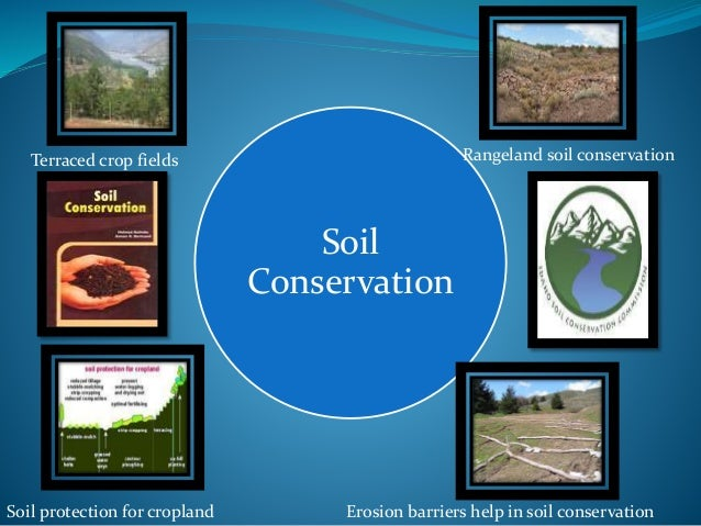 a description of the aspects of soil erosion as well as techniques to conserve water and soil for be