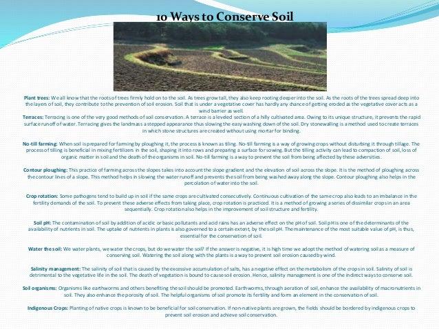 Soil conservation ppt