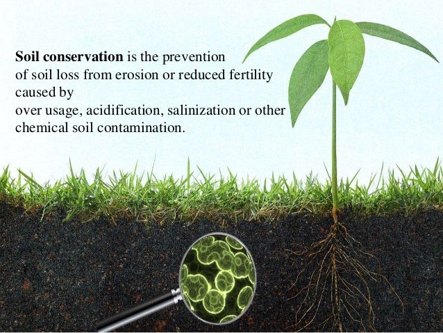 Soil conservation for Meaning of soil resources