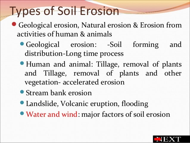 Soil erosion and soil health for Soil and its types