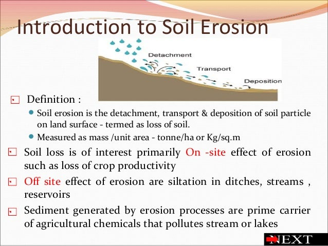 Soil erosion and soil health for Meaning of soil resources