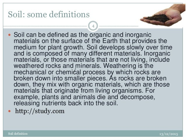 Soil erosion for Mineral soil definition