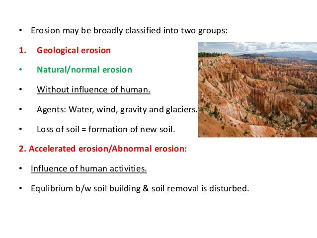 what are the factors of soil erosion