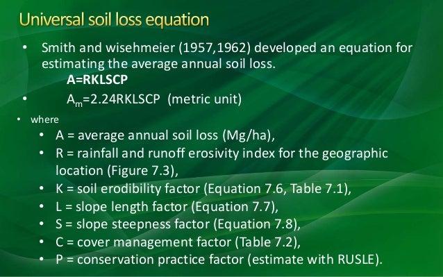 Soil erosion by water for Soil k factor
