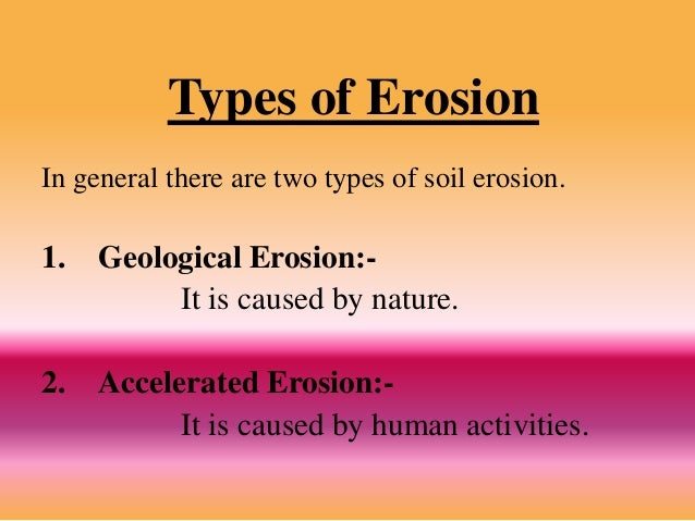 Soil erosion kvg for 4 different types of soil