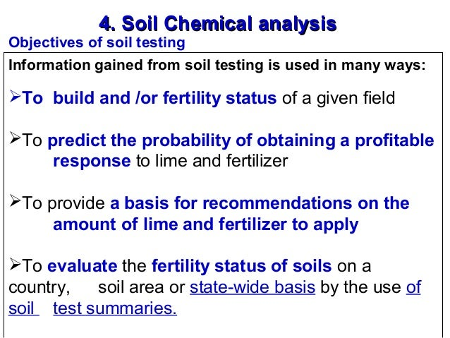 an analysis of soil and fertilization Understanding plant tissue analysis plant tissue analysis is a chemical analysis of plant leaves and other organs generally, a higher availability of a nutrient in the soil translates into.