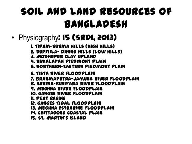 Soil fertility management in bangladesh