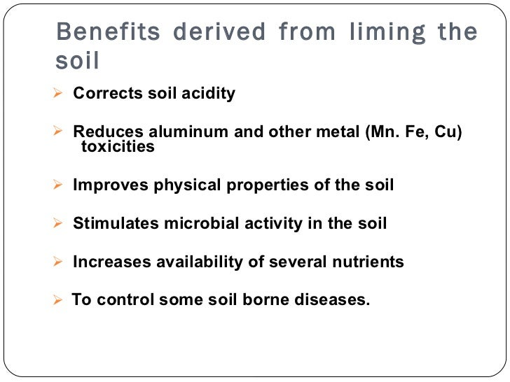 Soil fertility management liminmg for Soil borne diseases