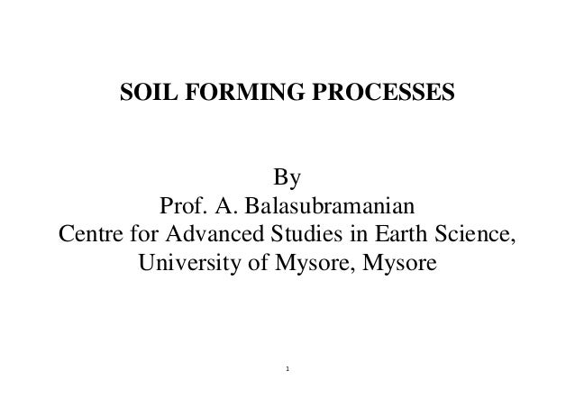 Soil formation process ppt