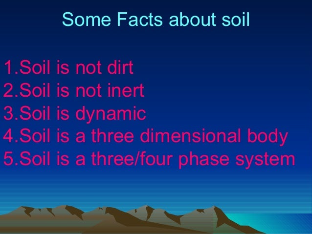 Soil health an overview for All about soil facts