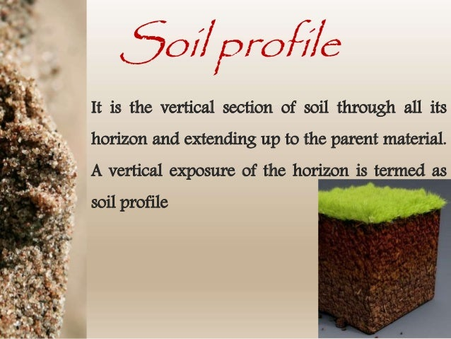 Soil horizons and soil sampling methods for Pictures of different types of soil with their names