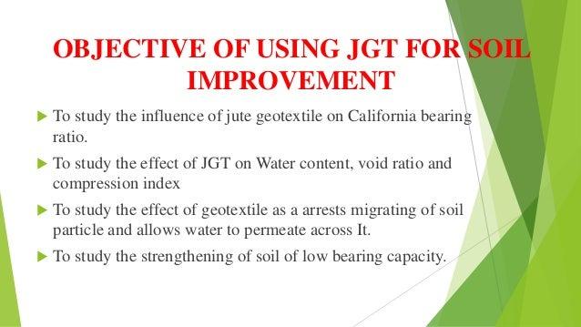 Geo textile for soil improvement for Soil improvement