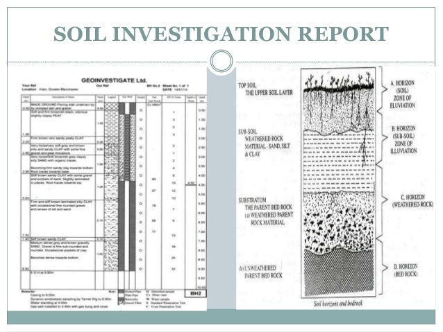 Soil investigation for Soil investigation report
