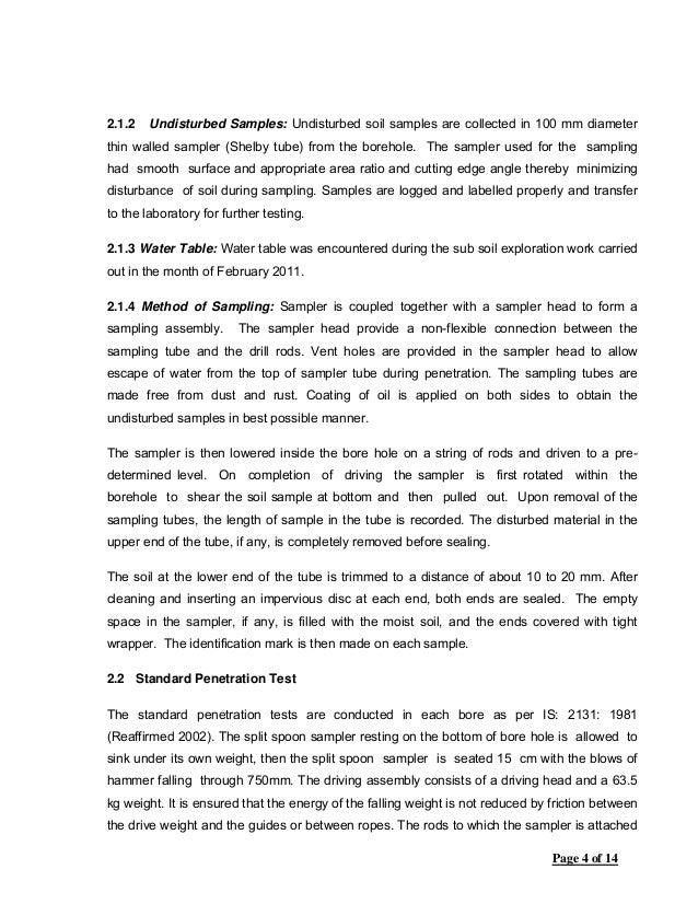 Soil investigation jda 13 194 for Soil investigation
