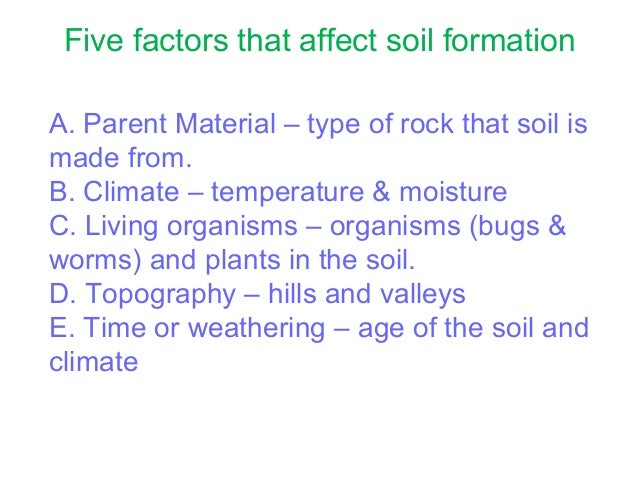 Soil lecture for Soil factors