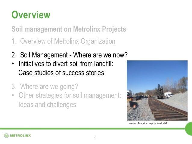 Soil management at metrolinx for Soil management