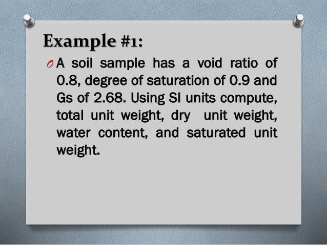 Soil mech lec ppt for Soil unit weight