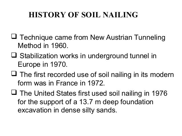 Soil nailing soil reinforcement technique for Origin and formation of soil