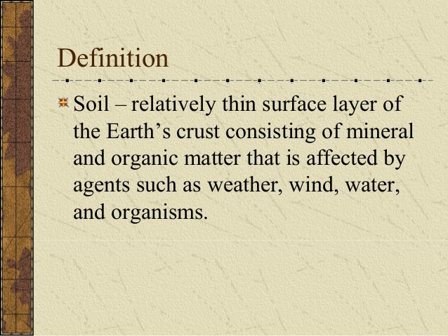 Soil notes for Organic soil definition