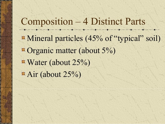 Soil notes for Mineral soil definition