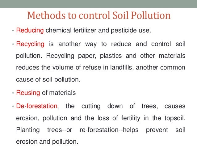 how to prevent land pollution in points
