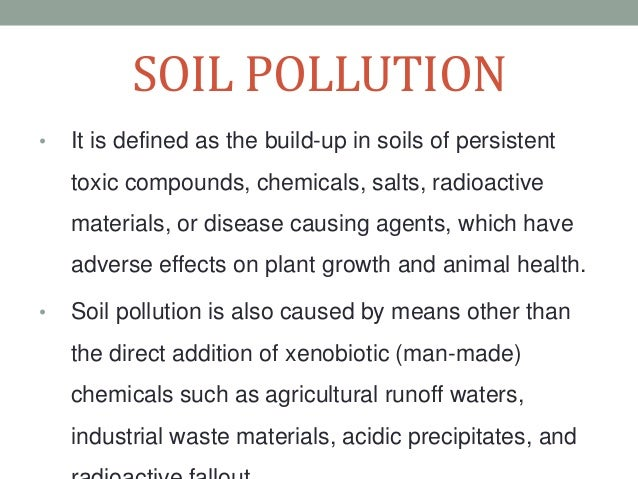 land pollution causes effects and prevention