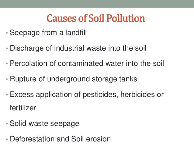 prevention of soil pollution