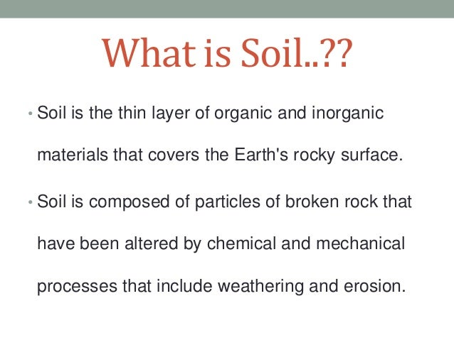 Soil pollution for What 5 materials make up soil