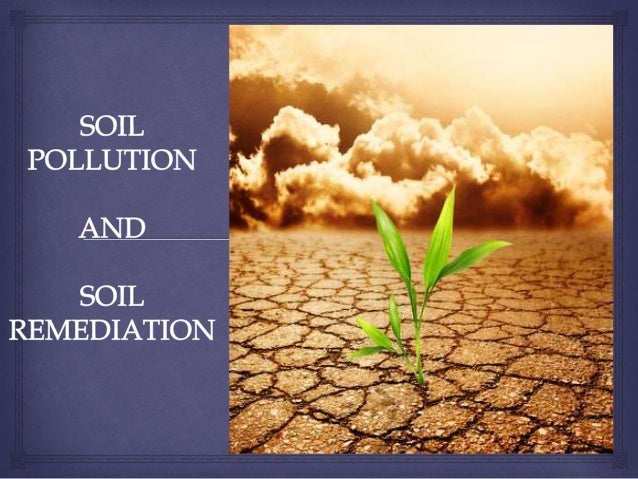 Soil pollution and it 39 s remediation for Soil remediation