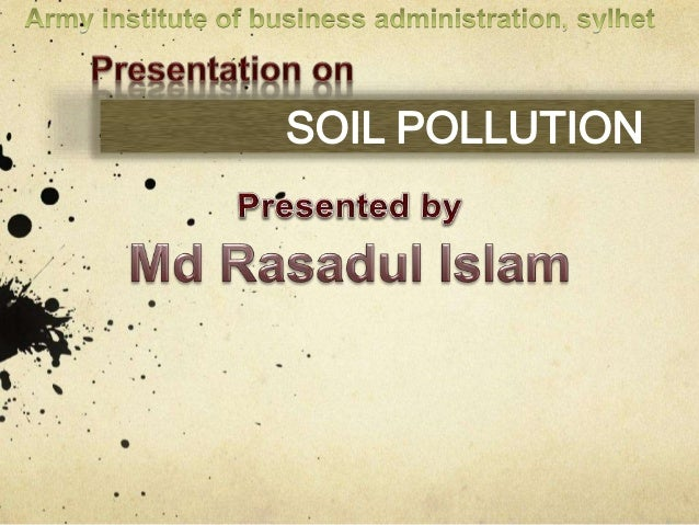 Soil pollution for What substances are in soil
