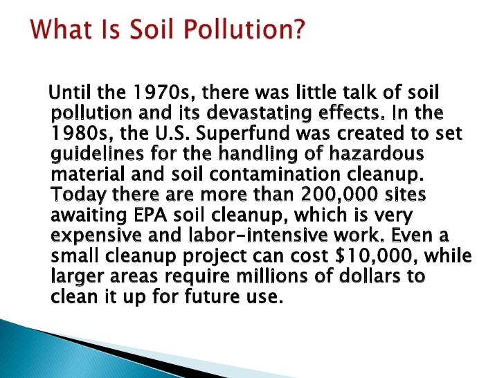 soil pollution health effect of the soil 4