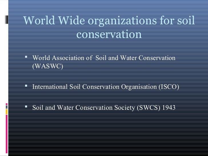 Soil profile and conservation for Soil and water facts