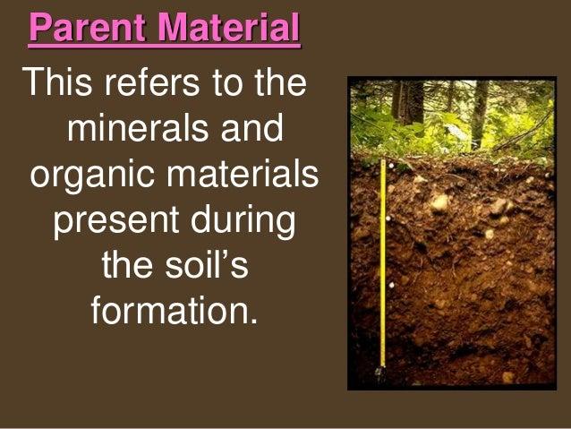 Soils for Minerals present in soil