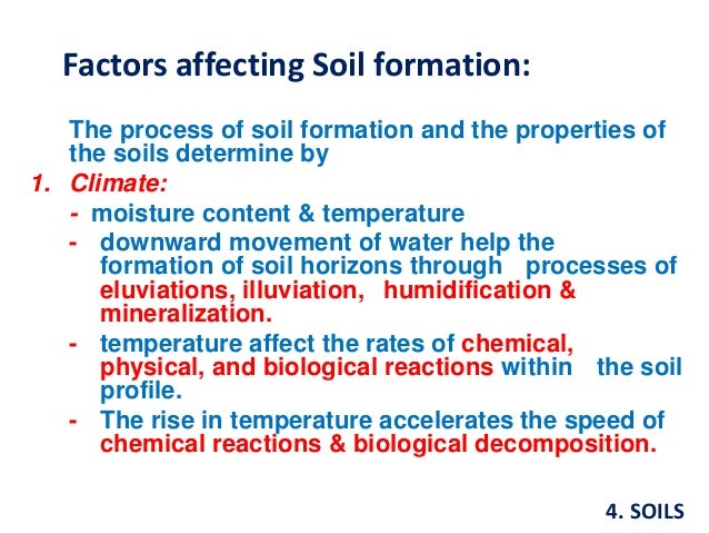 Soils for Meaning of soil formation